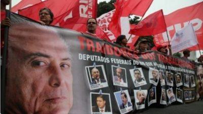 Despertó el gigante: masiva protesta en más de 20 capitales de Brasil contra la reforma laboral