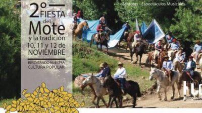 Este finde, Fiesta del Mote en Huinganco