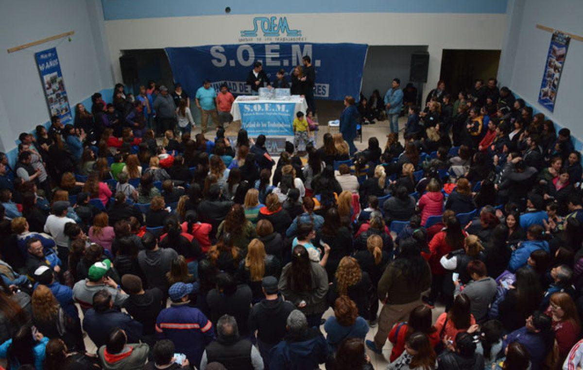 """SOEM Río Gallegos implementó """"retención de servicio"""" y """"paro"""""""