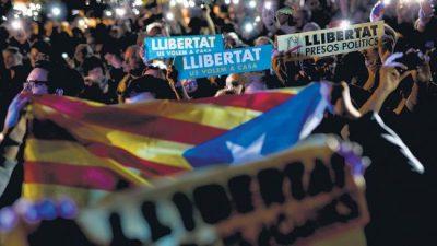 Cárcel para el gobierno independentista catalán