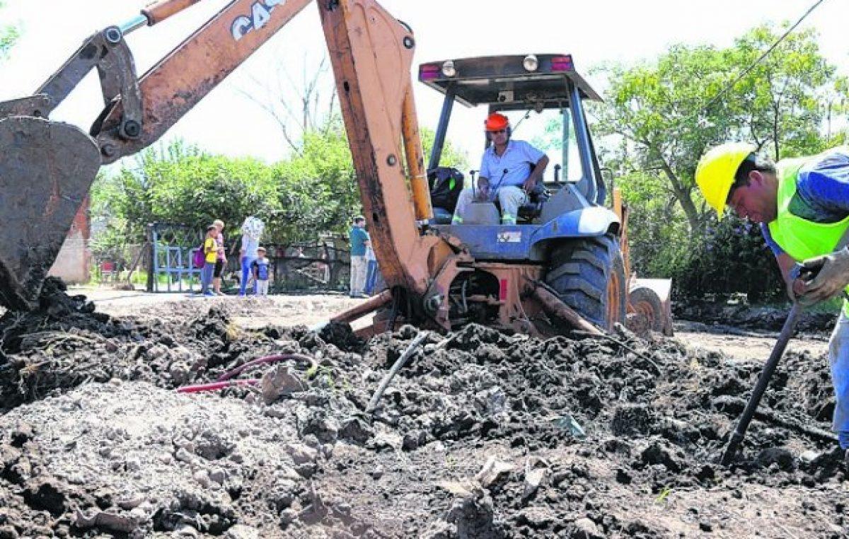 Realizan obras de infraestructura en Arroyo Seco, Villa G. Gálvez y Pérez