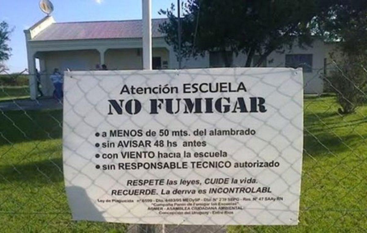 """Entre Ríos: Una maestra denunció la fumigación de una escuela: """"Trabajo ahí, no puedo mirar para otro lado"""""""