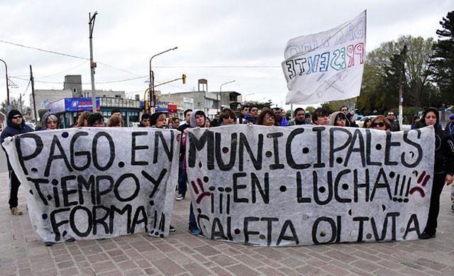 Municipales de Caleta marcharán en reclamo del aguinaldo y aumento salarial