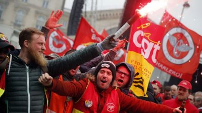 Las reformas de Macron desataron huelgas y protestas masivas en Francia