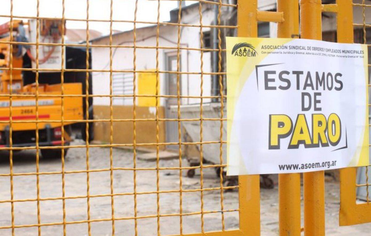 Santa Fe: Los municipales empezaron su primera jornada de paro