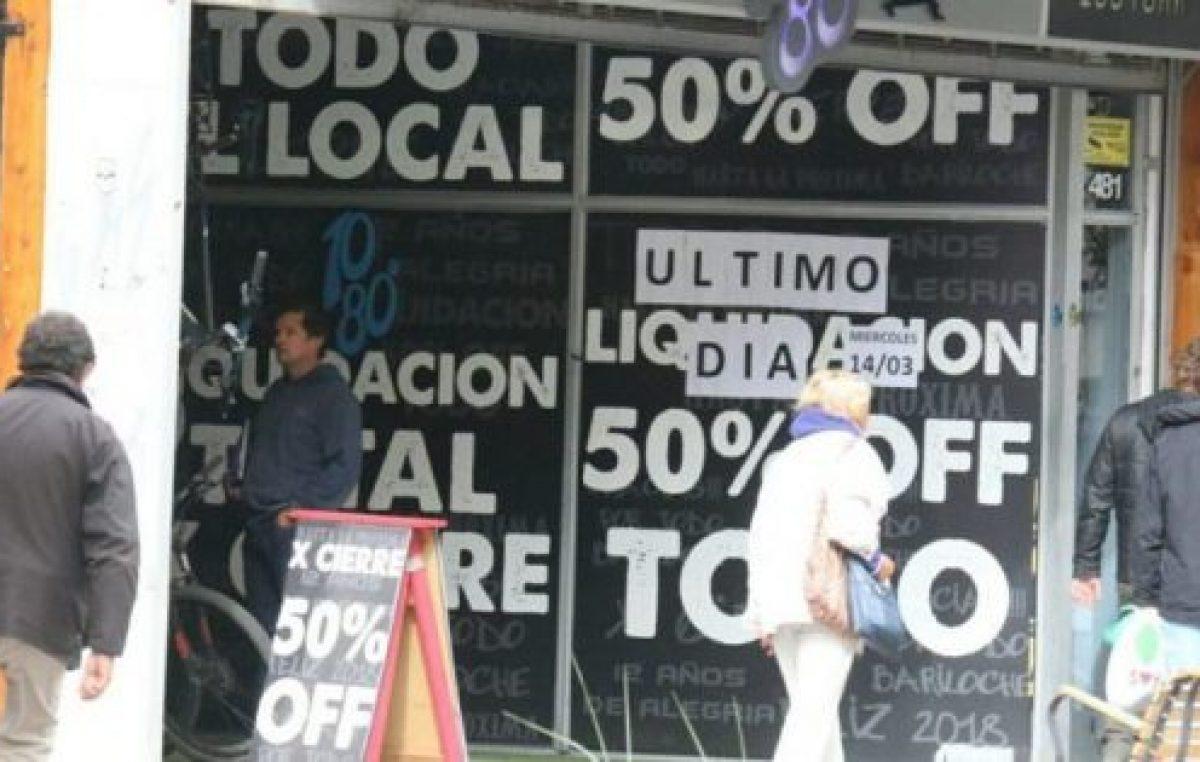 Aumenta el número de negocios que cierran en Bariloche
