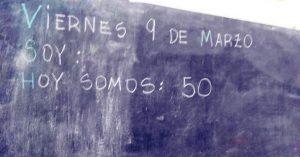 Alumnos hacinados en las escuelas de María Eugenia