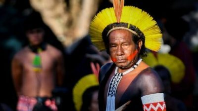 Comenzó una semana de protestas y movilizaciones indígenas en Brasilia