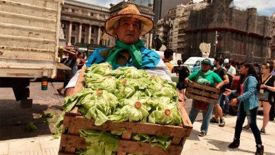 """Productores harán un nuevo """"verdurazo"""" con acampe frente al Congreso"""