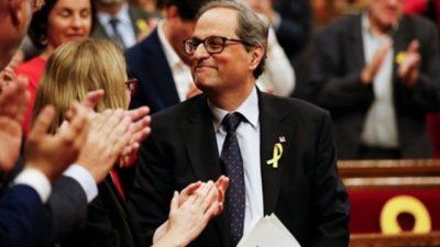 En Cataluña designan presidente al separatista Quim Torra
