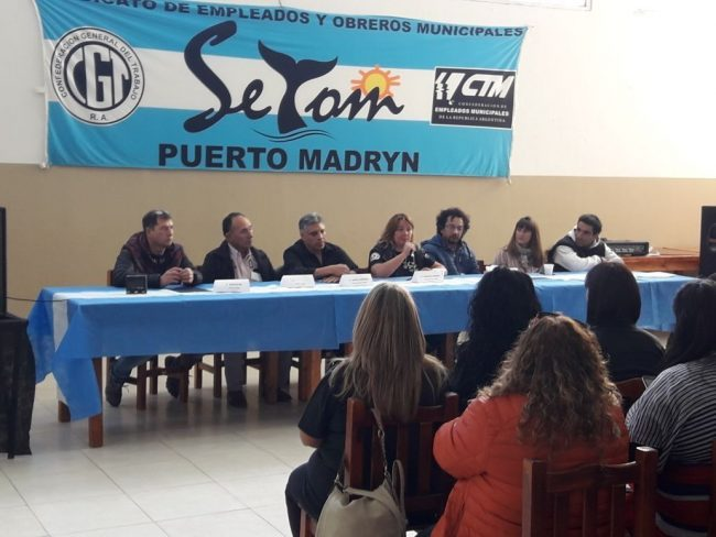 Puerto Madryn: SOEME junto a otros sindicatos de empleados municipales emitieron un documento al gobernador
