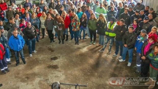 Trabajadores municipales de Cañuelas reclamaron por la apertura de paritarias