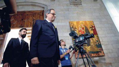 Quim asumió en Cataluña sin símbolos de España