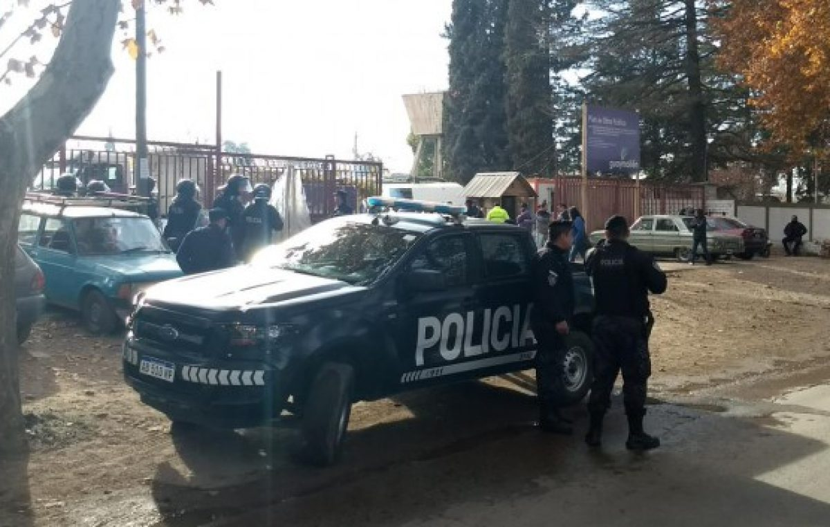 Paro nacional: provocación de la Policía de Mendoza contra trabajadores municipales de Guaymallén