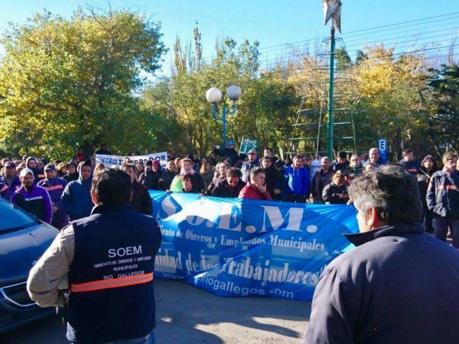 Municipales de Río Gallegos seguirán con retención de tareas hasta el 19 de junio
