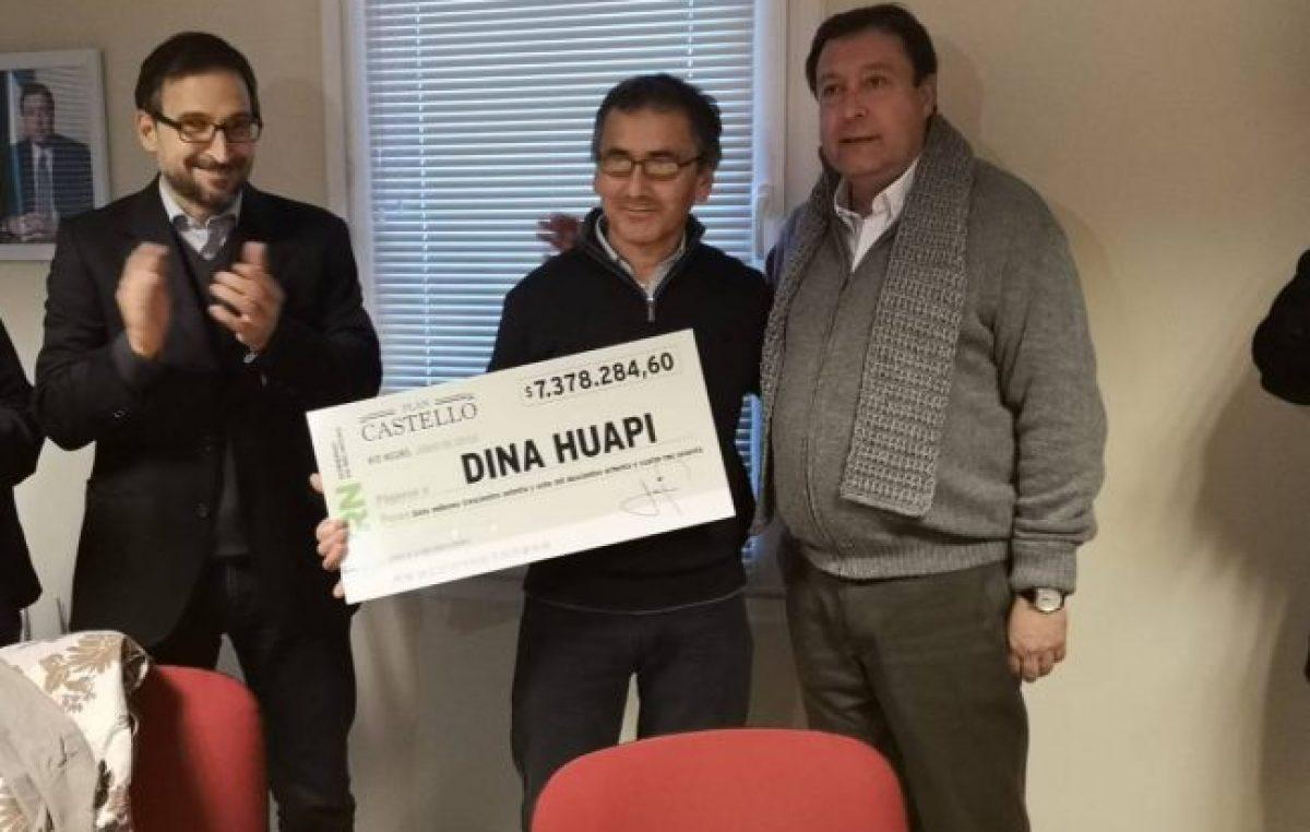 Dina Huapi fue la primera localidad en recibir fondos del Plan Castello