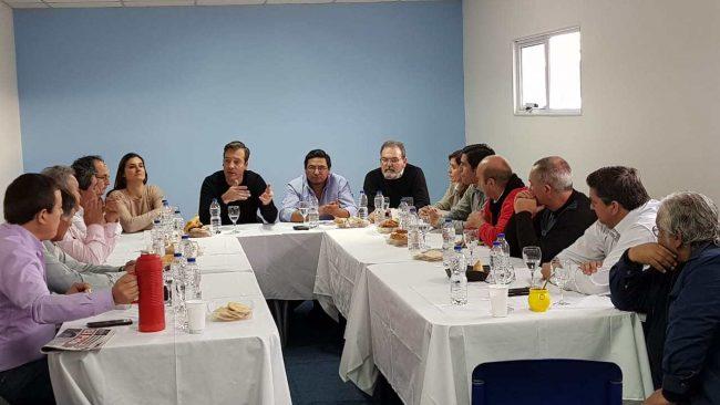 Intendentes de Río Negro respaldaron la candidatura de Martín Soria