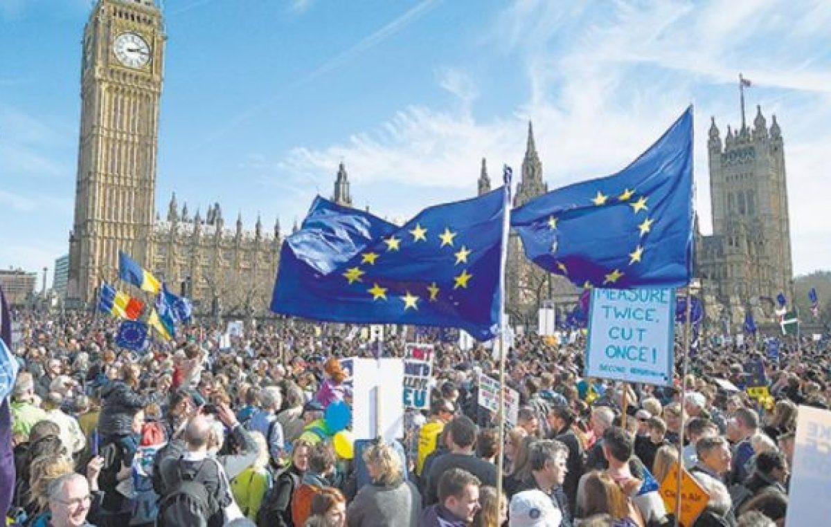 Marcha en Londres por la vuelta a Europa