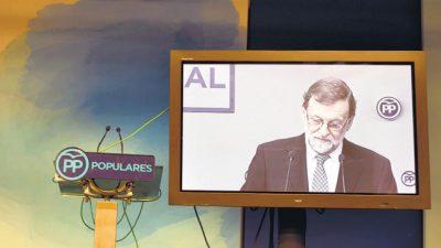 Rajoy deja también de liderar el PP