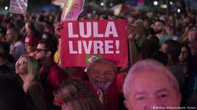 Una multitud pidió por la libertad de Lula en las calles de Rio