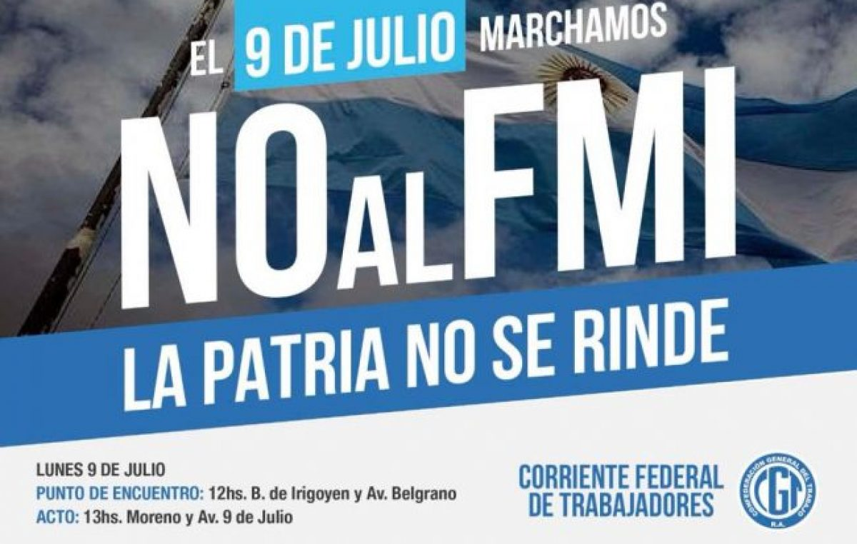 El 9 de Julio FESTRAM marcha contra el FMI