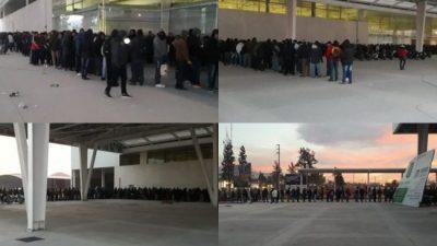 La foto del desempleo: miles de postulantes para cien puestos en un supermercado salteño