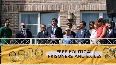 Acto catalán entre separatistas belgas