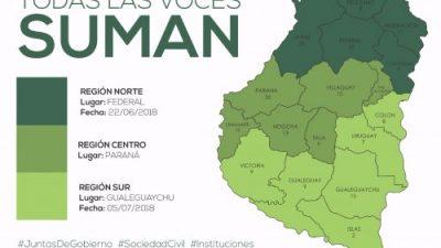 """El """"debate de clausura"""" de la Ley de Comunas será en Paraná y lo encabezará Bordet"""