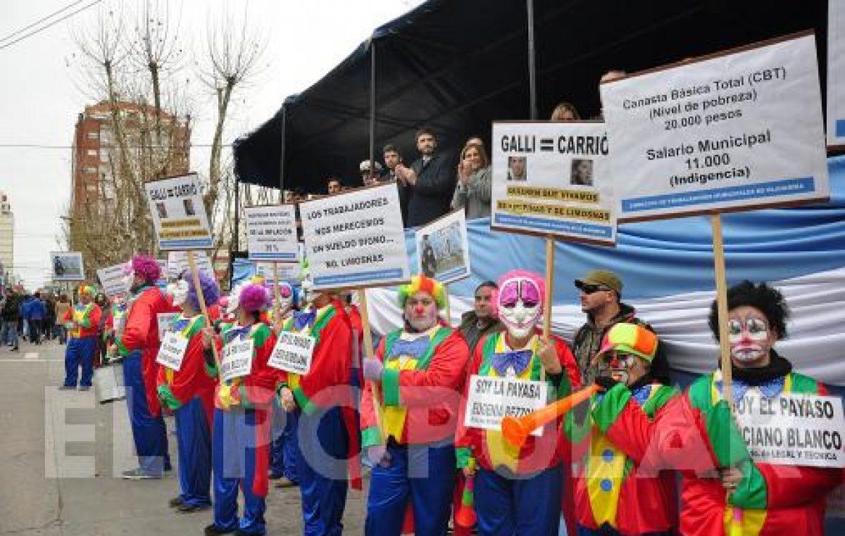 Los empleados municipales de Olavarría iniciaron su plan de lucha en reclamo por un aumento de salarios