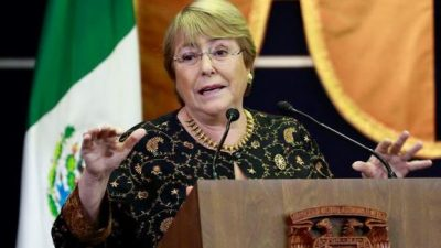 La ONU nominó a Bachelet como jefa de DD.HH.