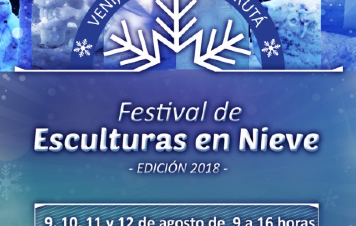 Festival de esculturas en nieve, Ushuaia, 9 de agosto
