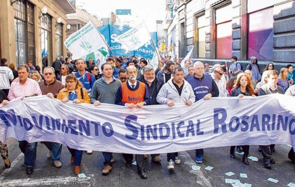 Prometen amplia adhesión a la huelga cegetista en Rosario y la región