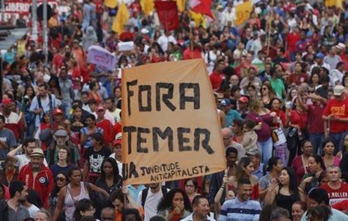 La policía federal de Brasil pide imputar a Temer
