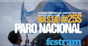 FESTRAM Santa Fe adhiere al paro nacional