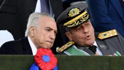 El jefe del Ejército, en campaña contra Lula
