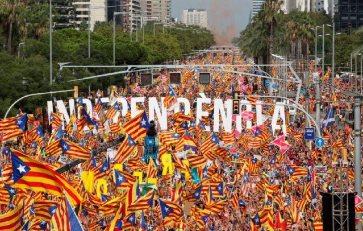 Los independentistas marcharon en el Día de Cataluña