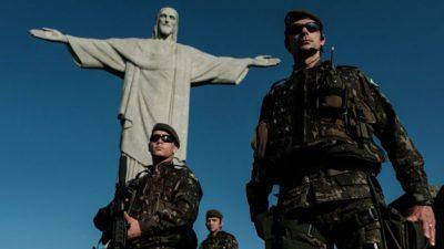 Una pintura marcial del Brasil de hoy