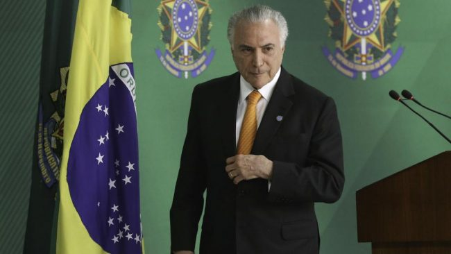 Temer prepara la mano dura de Bolsonaro