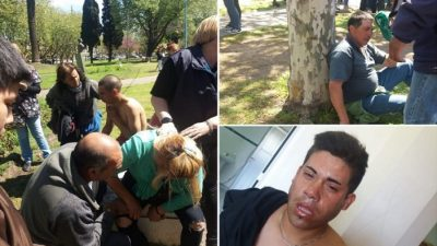 Violenta represión policial a trabajadores municipales de Necochea