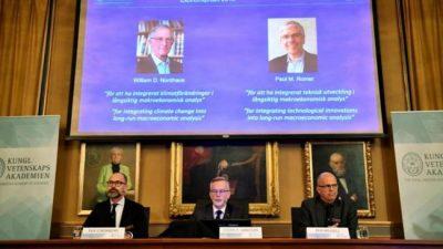 Nobel de Economía para los estadounidenses Nordhaus y Romer