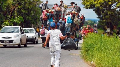 La caravana de migrantes llega a Ciudad de México