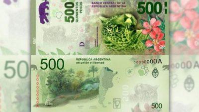 Desde que fue lanzado, el billete de 500 pesos perdió el 43% de poder adquisitivo