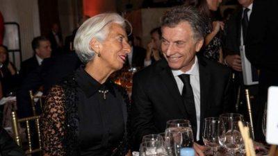 Marca personal de Lagarde a Macri