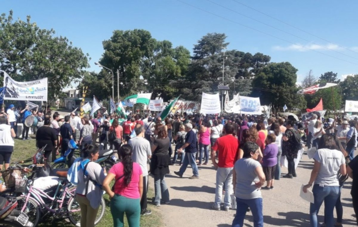 Histórica movilización en Chivilcoy en defensa de los puestos laborales de Paquetá