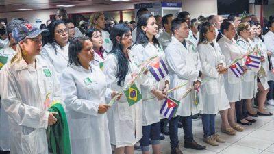Los médicos de Brasil de vuelta a Cuba