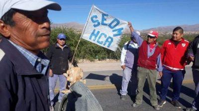 Masiva protesta del Seom Jujuy por mejora salarial