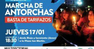Rosario será sede de la protesta nacional contra los tarifazos
