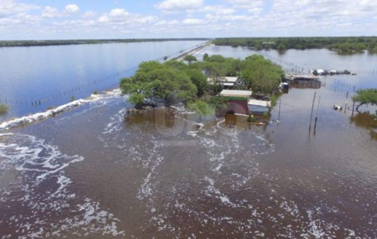 El norte santafesino bajo agua: cayeron en promedio 800 mm en menos de un mes