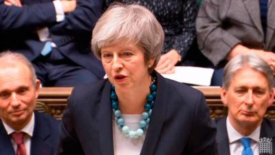 May promete garantías de los europeos