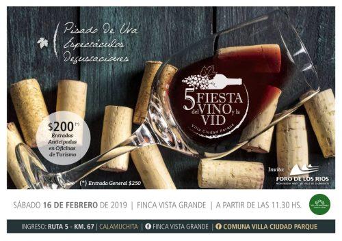 5° Fiesta del vino y la vid en Villa Ciudad Parque Calamuchita